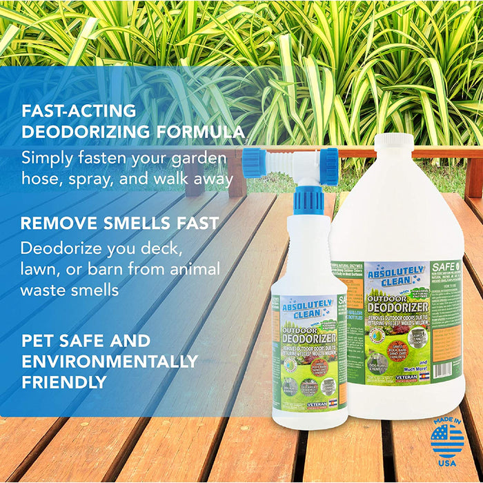 Pet Waste & Outdoor Odors - Works on Grass, AstroTurf, Decks, Fences, Dog Runs & More - Prevents Lawn Yellowing