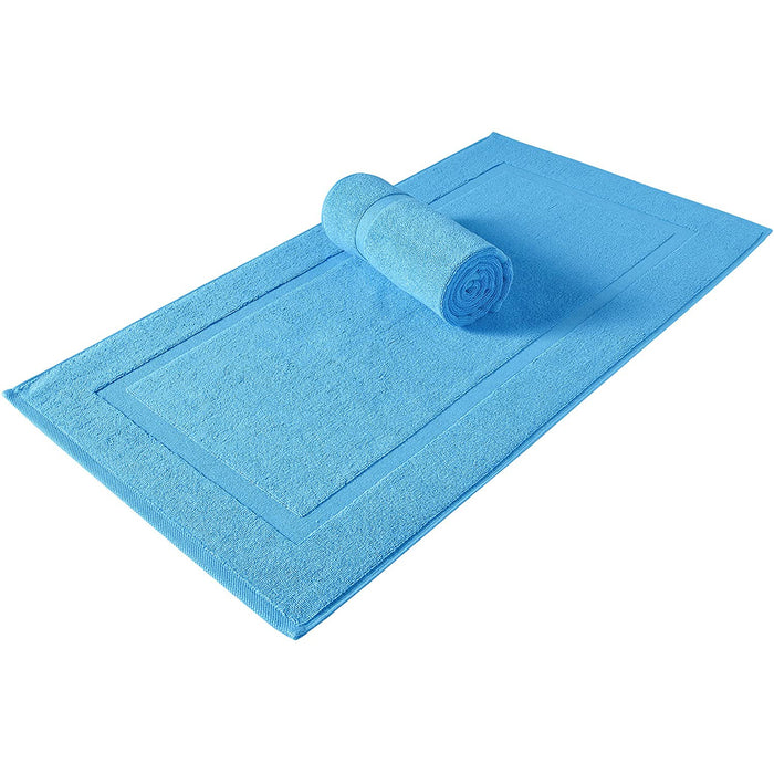 SALBAKOS Turkish Cotton Hotel & Spa Bath Mat Set, 900 GSM, 20 by 34 Inch, Pack of 2