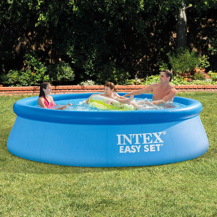 Easy Set Swimming Pool,Inflatable Round Swimming Pool,Small Family Frame Pool ,Swim Center for Kids、Adults,10ft.x30in(Filter pump not included)