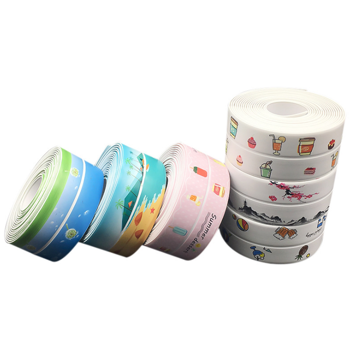 Homid Caulk Strip with Tree,PVC Self Adhesive Caulking Sealing Tape for Kitchen Sink Toilet Bathroom Shower and Bathtub