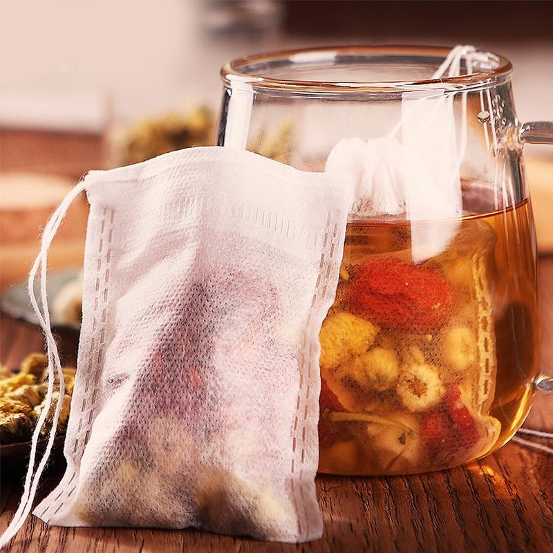 Teabags 5.5 x 7CM food grade  Empty Scented Tea Bags Infuser With String Heal Seal Filter Paper - Buyfie
