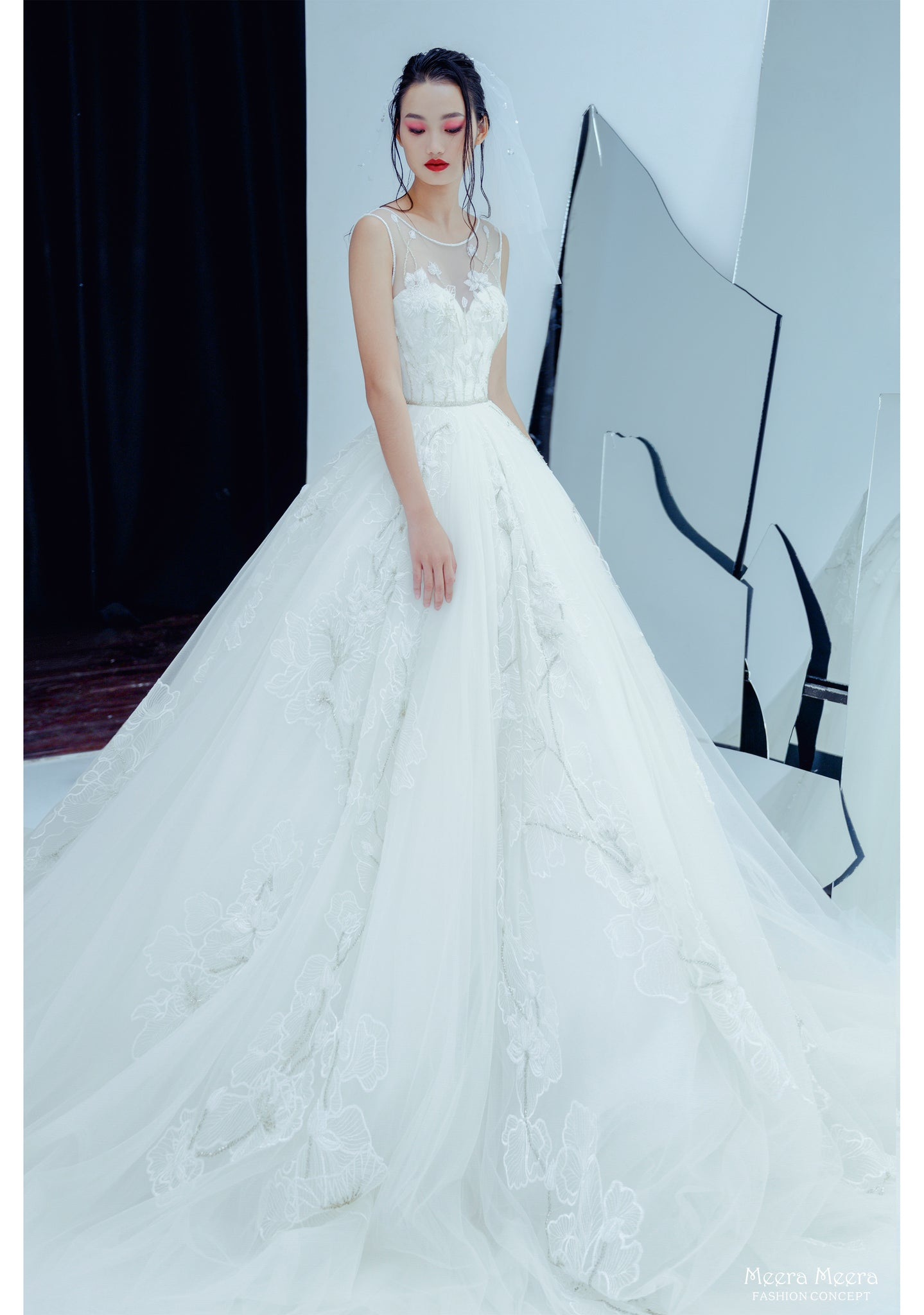 áo cưới meera meera bridal lotus wedding dress