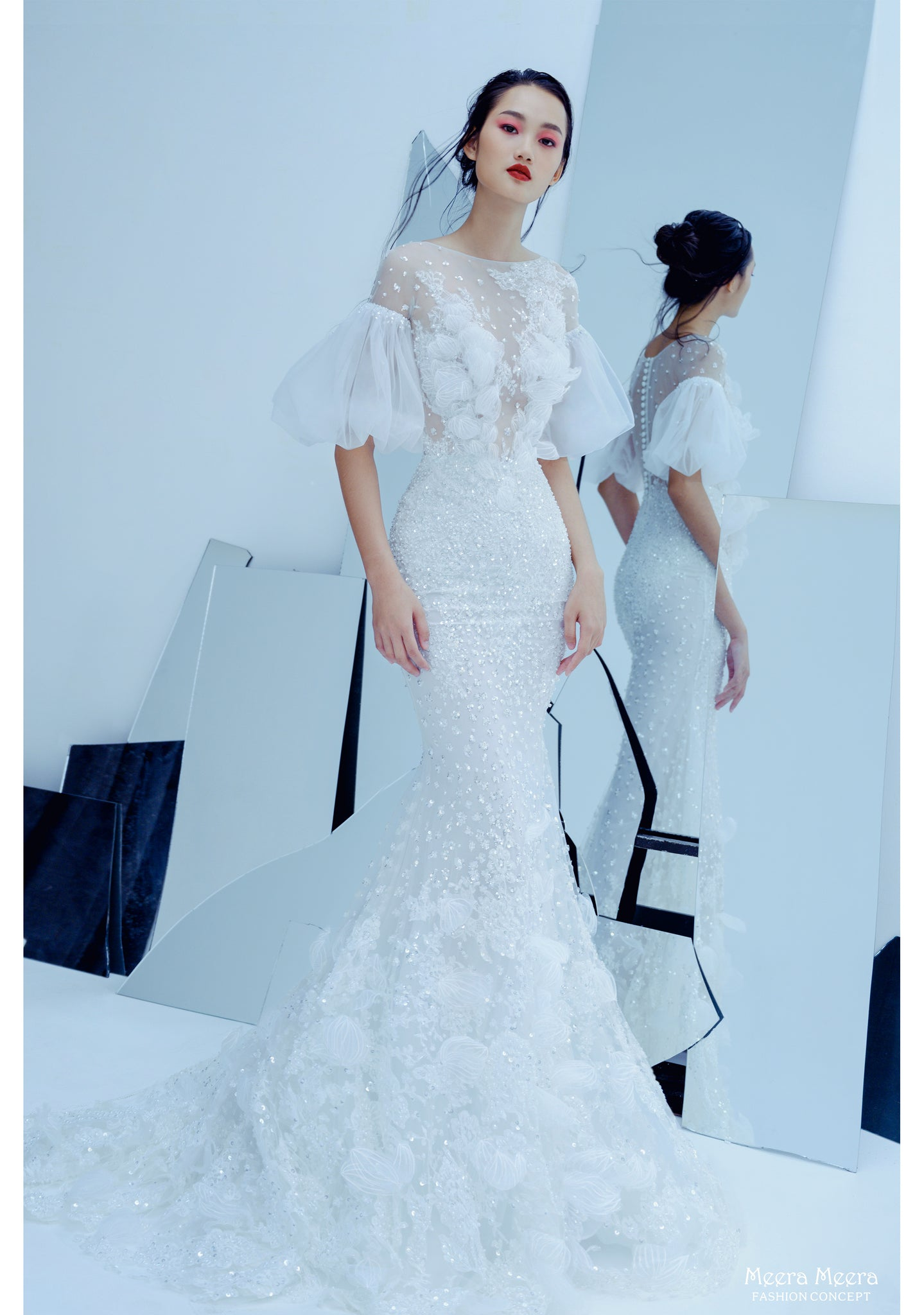 bst áo cưới hoa sen meera meera haute couture wedding dress