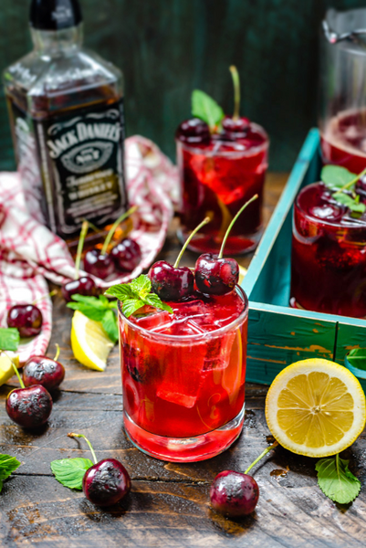 WFHomey's Weekend Drink of Choice.... Charred Cherry Whiskey Lemonade!   Sooo Friday!