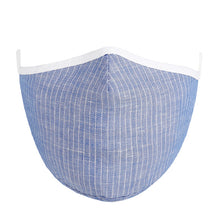 Load image into Gallery viewer, Face Mask w/ Filter Pocket, bamboo fibre layer - reusable, Max COMFORT - Blue
