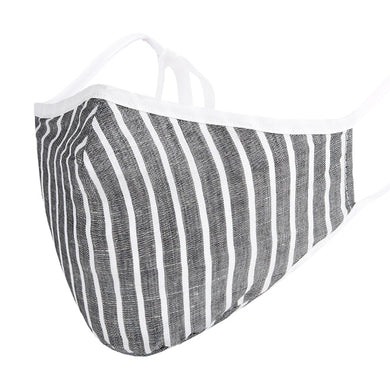 face masks reusable Grey  White Stripes