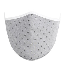 Load image into Gallery viewer, Face Mask w/ Filter Pocket, bamboo fibre layer - reusable, Max COMFORT - Grey with Dots