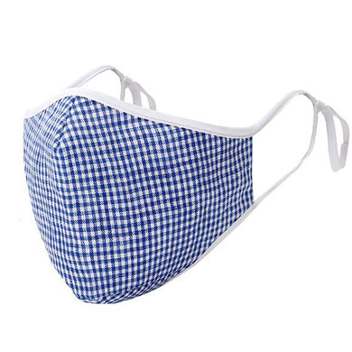 cotton face mask with filter pocket Blue