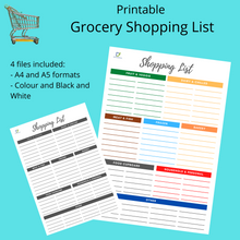 Load image into Gallery viewer, Categorised Grocery List Shopping List, INSTANT DOWNLOAD