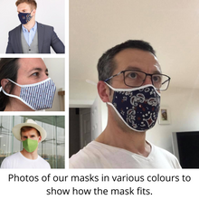 Load image into Gallery viewer, Face Mask w/ Filter Pocket, bamboo fibre layer - reusable, Max COMFORT - Flower