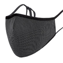 Load image into Gallery viewer, Face Mask w/ Filter Pocket, bamboo fibre layer - reusable, Max COMFORT - Black Pattern