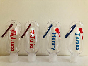 Personalised Hand Gel Bottles
