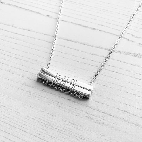 Duo Bar Necklace - Lottie & Grey
