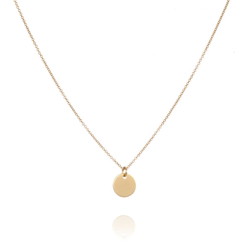 Gold Disc Necklace - Lottie & Grey