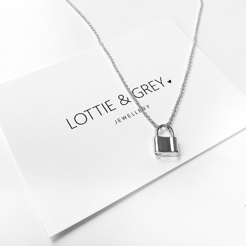 Silver Padlock Necklace - Lottie & Grey