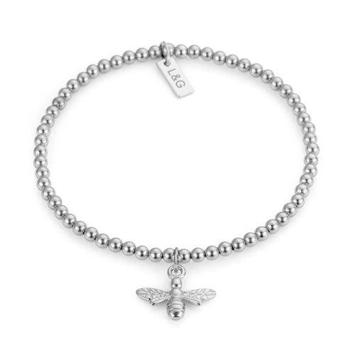 Silver Bee Bracelet - Lottie & Grey
