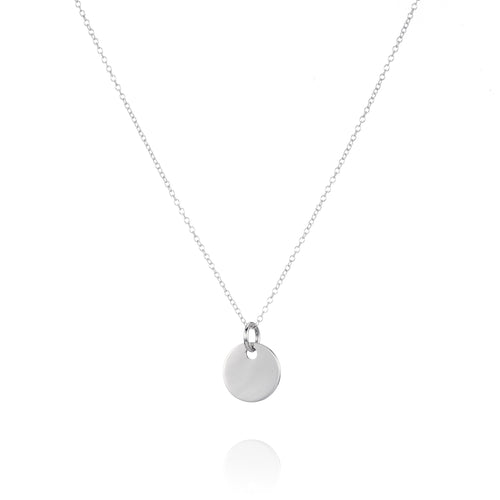 Silver Disc Necklace - Lottie & Grey