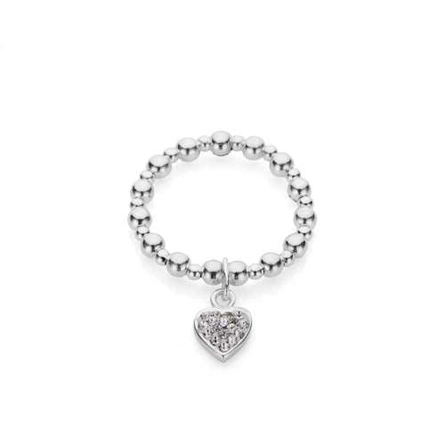 Sparkly Heart Ring - Lottie & Grey