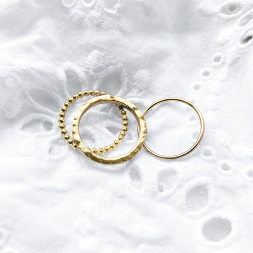 Gold Ring Stack - Lottie & Grey