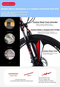Magicjinx 26 Inch Mountain Bike Folding Bicycle Adult  Bike