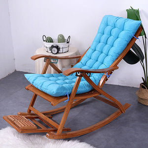 Fine baby Sun Lounger Chair Cushions Non-Slip Rocking Chair Cushion Garden Recliner Quilted Thick Padded Seat Cushion Reclining Chair