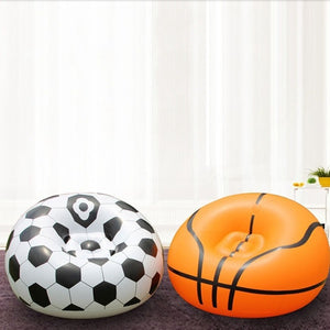 Inflatable Lazy Football Basketball Sofa Outdoor Activities Single Sofa