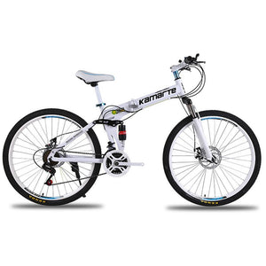 Magicjinx Dual Disc Brakes Shock Speed Mountain Bike Folding Bicycle 26 inch