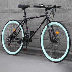 Magicjinx 26 Inches 21 Speed Adult Road Bikes Live Bikes For Male And Female Students Fixie Bike