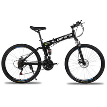 Load image into Gallery viewer, Magicjinx Dual Disc Brakes Shock Speed Mountain Bike Folding Bicycle 26 inch