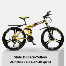 Load image into Gallery viewer, 26 Inch Double Shock Absorption Off-road Foldable Mountain Bike