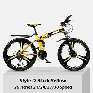 26 Inch Double Shock Absorption Off-road Foldable Mountain Bike