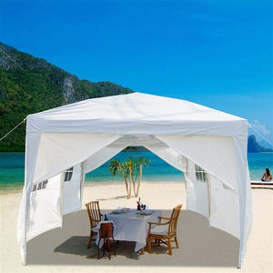 3 x 6m Four Windows Practical Waterproof Folding Tent White (Delivery in 3~7 days)