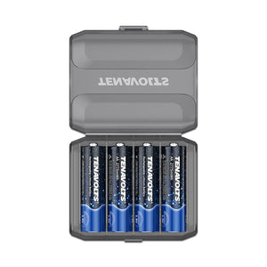 TENAVOLTS Lithium Rechargeable AA Battery, 4 Counts