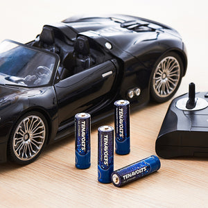 TENAVOLTS Lithium Rechargeable AA Battery, 4 Counts with a charger