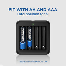Load image into Gallery viewer, TENAVOLTS Lithium Rechargeable AAA Battery, 4 Counts with a charger
