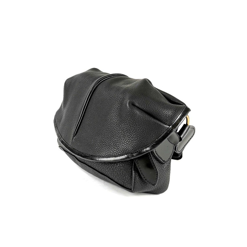 LE-3 LEATHER SHOULDER CAPSULE SMALL BLACK