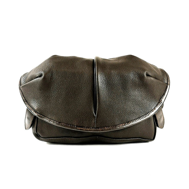 LE-3 LEATHER SHOULDER CAPSULE SMALL BROWN