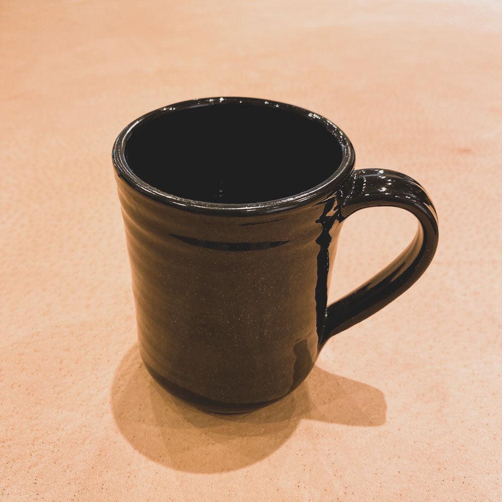 HAND-THROWN NATURAL RED CLAY COFFEE MUG
