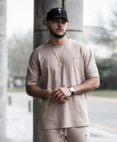 Santino camel coated tee