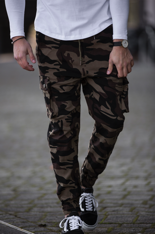 FIDO Camo Slim Fit Stretch Cargo Pant