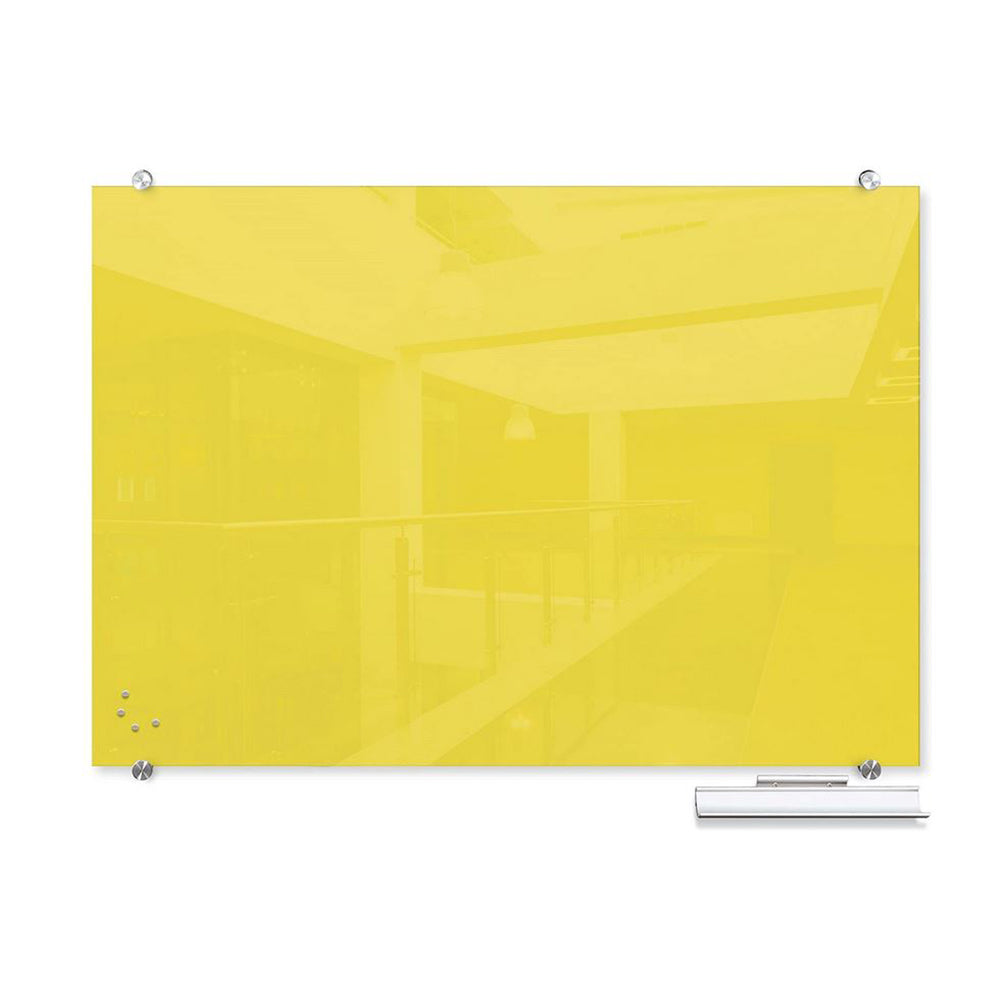 Glass Writing Board - Yellow