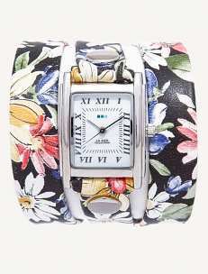Limited Edition Black Magnolia Wrap Watch