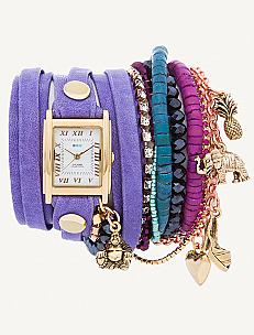 Copacabana Stones-Crystal & Charms Wrap Watch