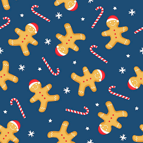 Gingerbread blue stars