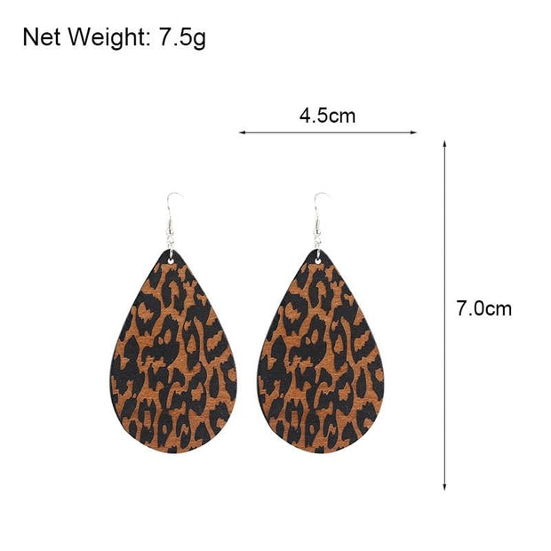 Eco-Friendly Wooden Earrings - African Teardrop