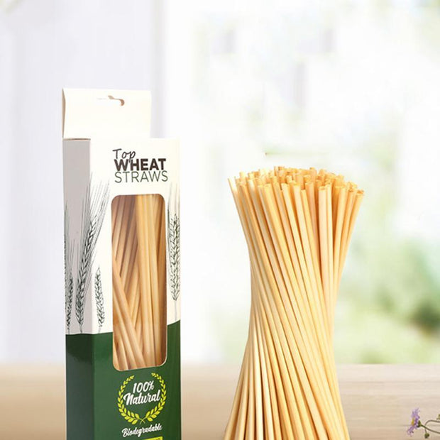 Wheat Straw Drinking Straw 100pcs