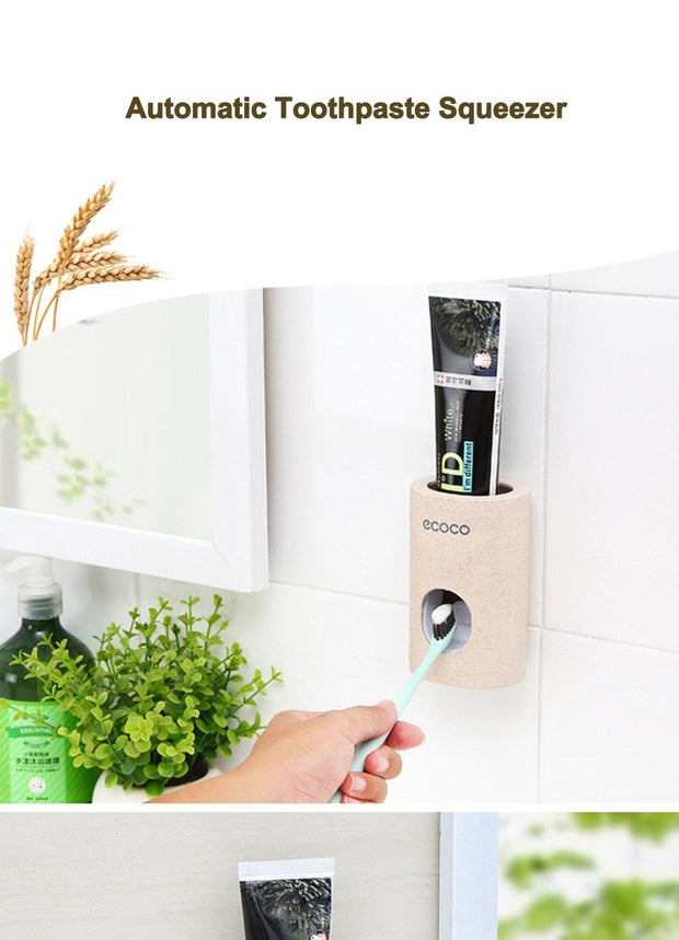 Wheat Straw Automatic Toothpaste Dispenser