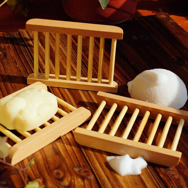 Natural Wooden Bamboo Soap Holder