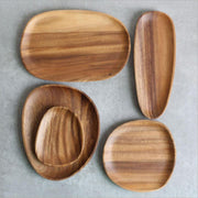 Irregular Wooden Storage Tray
