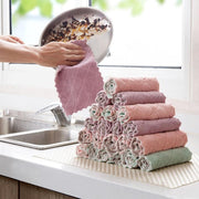 Reusable Microfiber Kitchen Cleaning Cloth